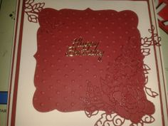Tattered lace rose card