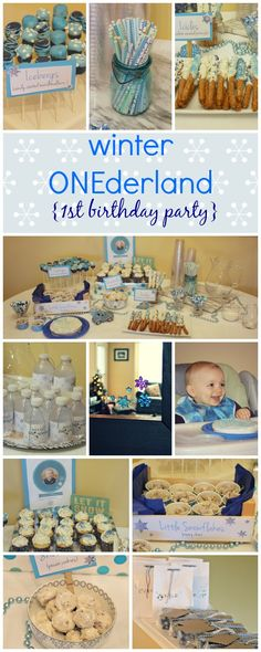 Winter ONEderland Birthday Party -- an fun and easy birthday party theme on RachelCooks.com