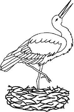 stork colorimg page - Google keresés Spring Crafts For Kids, Diy Crafts For Kids, Body Outline, Toddler Art, Forest Animals, Stuffed Animal Patterns, Drawing For Kids, Coloring Pages For Kids, Easy Drawings