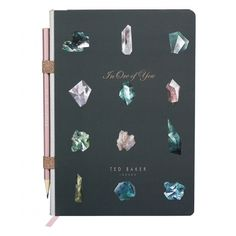 Ted Baker Womens A5 Notebook with Pencil - Linear Gem
