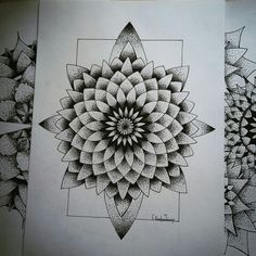 #dotwork#illustration#geometry#tattoo#sketch#illusion#mandala#mandalatattoo#flash