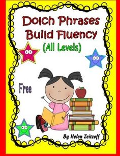 Each time a level of the Dolch list is completed, you can use the selected level in this book to use for practice homework. Phrases are used to provide practice and fluency with word recognition of the Dolch Sight Words. Reading Intervention, Teaching Reading, Reading Comprehension, Reading Skills, Reading Resources, Reading Activities, Dolch Sight Words, Dolch List, Sight Word Activities