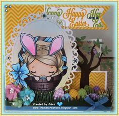 Cute Easter card with Anya.