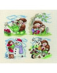 Anchor Country Companions The Seasons Cross Stitch Kits