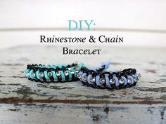 DIY: Rhinestone & Chain Bracelet