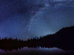 Star watching from Mirror Lake Mt Hood Oregon last night [2495x1871][OC]