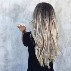 long ash blonde hair
