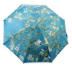 Teal Floral Umbrella