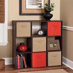 Perfect solution for a variety of storage needs with this Ameriwood™ System Build™ 9-Cube Cherry Storage Cubby from #BigLots.