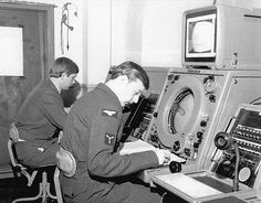 An operator at a T60AQ console at RAF Hartland Point in the 1970´s. Sites: Hartland Point GCI Rotor Radar Station