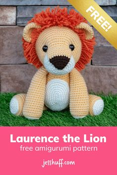Lion amigurumi pattern –how cute is this?? I can't believe it's free! via @heyjesshuff Lion Crochet, Crochet Baby Toys, Crochet Amigurumi Free Patterns, Crochet Animal Patterns, Stuffed Animal Patterns, Cute Crochet, Peluche Lion, Crochet Mignon, Softie Pattern