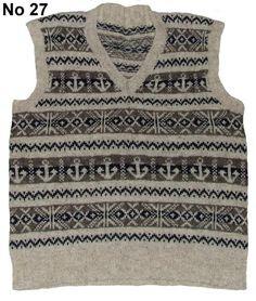 Hand Knitted Fair Isle Pullovers - Aero Leathers, Scotland, UK