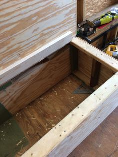 Lids fitted and hinges attached