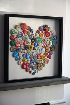 I just found a stash of husbands beer bottle caps... Now I need something to do with them. darling-diys