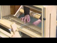 How to Warp a Loom from back to front - YouTube