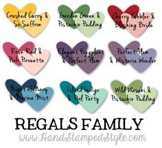 complimentary colors for card stock pairing by http://www.handstampedstyle.com - lots of helpful tips and projects on this site!!