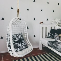 Relax, hang inside for a while with Byron Bay Hanging Chairs #ByronBayHangingChairs, #Chairs, #Decor