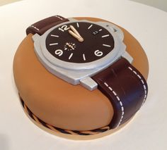 Panerai 351 Watch Cake with chocolate effect leather strap