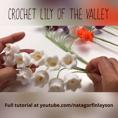 In this video I show you how to of the This crochet flower is delicate and looks beautiful. You can stick to the traditional white flower or mix up different colours to add your own special twist to this crochet pattern Crochet Small Flower, Crochet Flower Tutorial, Crochet Flower Patterns, Crochet Stitches Patterns, Crochet Patterns Amigurumi, Love Crochet, Crochet Flowers, Crochet Crafts, Crochet Toys