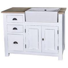 meuble sous vier 3 tiroirs 2 portes chagny en bois massif