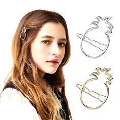 1Pc Metal Hair Clips Girls Women Children Golden Silver Hair Accessories Headpiece Pin Hair Style Braider Tool YK1-5 #Affiliate