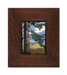 Yoshiko Yamamoto Redwood 6x8 Tile, Motawi Tileworks, Mission Tiles