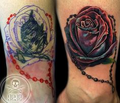 cover up tattoo by gege Cover Up Tattoos, Insta Art, Watercolor Tattoo, Body Art, Ink, Rose, Design, Tattoos Cover Up, Pink