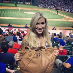 Spotted: Layne Ogden with her Paint the Town Tote at the Rangers Game!