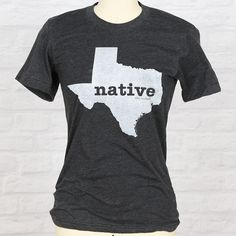 Our Texas Native T-shirt is only for those born and bred in the Lone Star State.Whether you are1st, 2nd, 3rd, or 30th generation Texan, this shirt tells the world that Texas isn