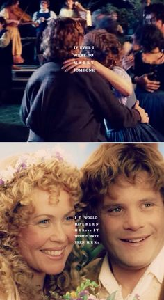 """""""Rosie Cotton dancing. She had ribbons in her hair. If ever I were to marry someone, it would have been her.. it would have been her."""" // Sam & Rosie #lotr"""