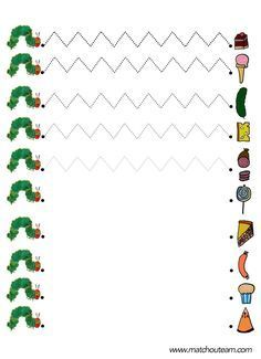 graphisme la chenille qui fait des trous fiche à imprimer Preschool Writing, Preschool Art, Eric Carle, Pre Writing, Writing Skills, Handwriting Activities, Activities For Kids, Very Hungry Caterpillar Printables, Worksheets For Kids