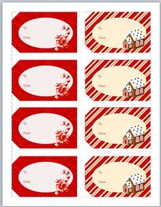 Secret Santa Gift Tags Printable printable christmas gift tags on ...