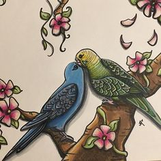 Beautiful page created by @artbyredjessica using their Chameleon products! #chameleonpens #pen #marker #alcoholmarkers #markerpen #colour #color #colouring #coloring #bird #art #artwork #artist #create