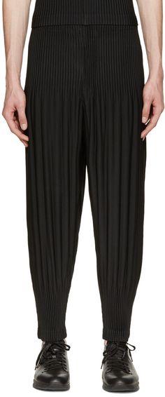 Homme Plissé Issey Miyake Black Pleated Lounge Pants