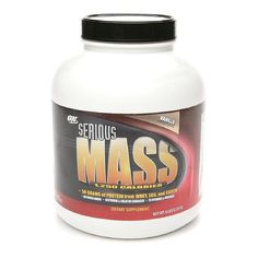 Optimum Nutrition Serious Mass 1250 Calories, Vanilla 6 lb (2727 g) -- More info could be found at the image url.