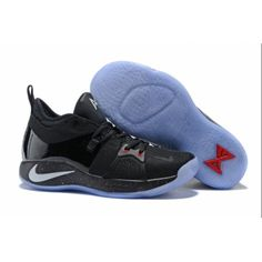 4c6628fd49b Nike PG 2 Men s Black and Silver-Red