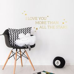I Love You More Than All The Stars by SirFaceGraphics on Etsy