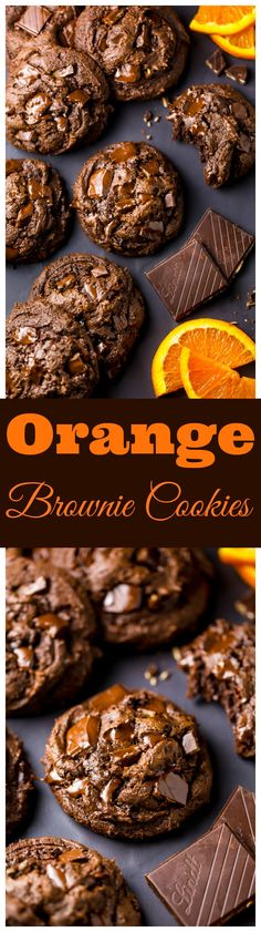 Gooey Chocolate Orange Brownie Cookies are insanely decadent and delicious!!!