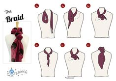 The Braid scarf knot, Scarf Universe, scarf tying