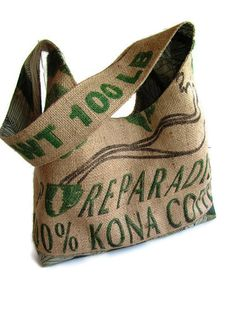 Ready To Ship for Mother's Day. Recycled Burlap by ManilaExtract