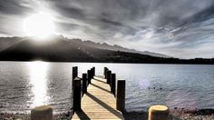 Lake Wakatipu from our jetty Lake Wakatipu, All Things Fabulous, Mountains, Nature, Travel, Naturaleza, Viajes, Trips, Off Grid