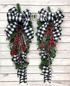 Excited to share this item from my shop: Buffalo Plaid Wreaths for Front Door, Buffalo Plaid Teardrop Swags, Christmas Teardrop Swags, Christmas Swags, Farmhouse Holiday Wreaths German Christmas Ornaments, Christmas Swags, Plaid Christmas, Holiday Wreaths, Holiday Crafts, Christmas Holidays, Christmas Decorations, Christmas Tree Shops, Make A Christmas Wreath
