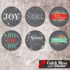 Printable Christmas Chalkboard Gift Tags DIY by CatchMeStudio