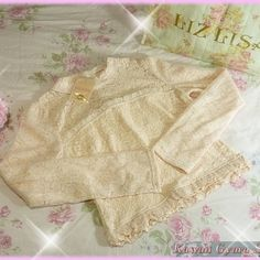 Liz lisa knit lace long sleeved top (nwt)