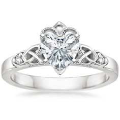 Love love love and want this ring! My grandma gave me a Claddaugh ring when I was little and it's been my most treasured since!   18K White Gold Celtic Claddagh Ring from Brilliant Earth