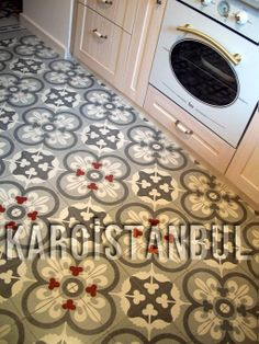 Tiles in the Turkish press Karoistanbul.Karoistanbul is the true specialist of encaustic cement floor tiles or mosaic tiles.