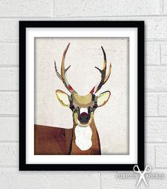 Deer Collage - The Curious Nickel