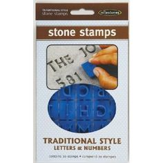 Stone Stamps - would be great for an herb garden or making stepping stones for your garden!