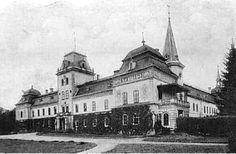 Humenne manor house Takto vyzeral kaštieľ v prvej polovici storočia. Manor Houses, Castles, Cathedral, Louvre, Building, Travel, Viajes, Chateaus, Buildings