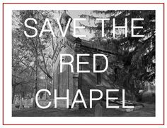 Red Chapel in Allouez Catholic Cemetery on the verge of being torn down.
